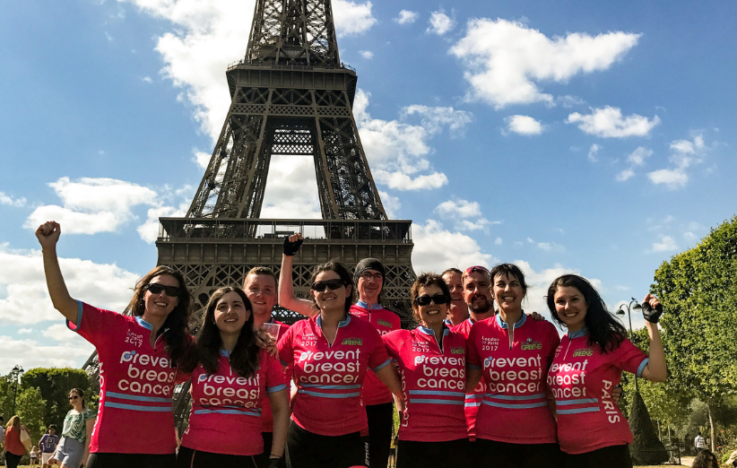 London to Paris Cycle Challenge Prevent Breast Cancer Charity UK