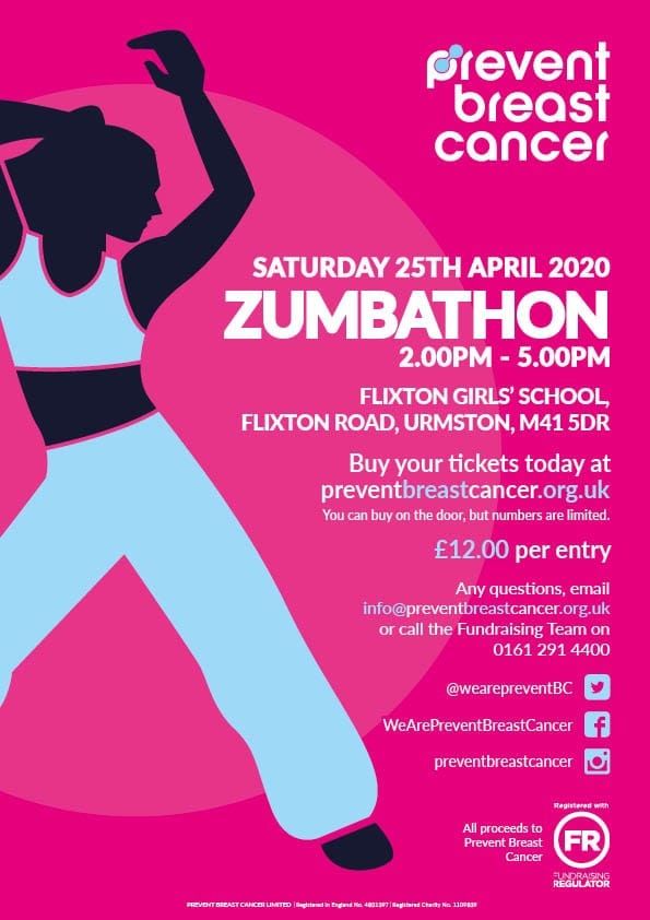 Zumbathon Prevent Breast Cancer Charity UK