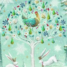 Partridge in a Pear Tree Charity Christmas Card Prevent Breast Cancer