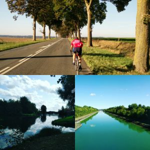 Cycling through the French countryside and along the River Somme