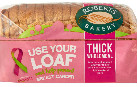 Roberts Bakery Wholemeal Loaf Prevent Breast Cancer Charity Use your Loaf Campaign