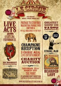 Le Cirque Ball Prevent Breast Cancer Charity UK