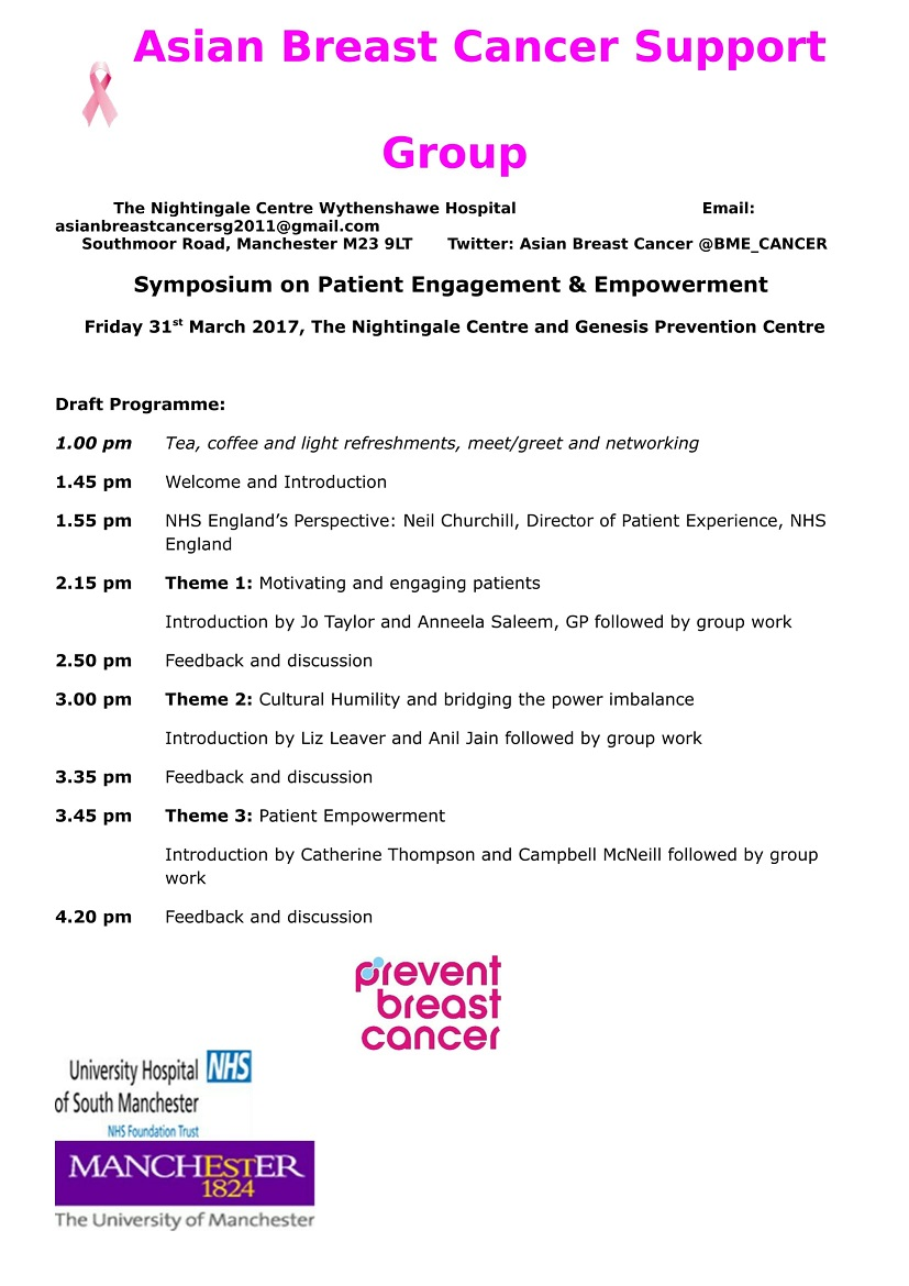 SYMPOSIUM ON PATIENT ENGAGEMENT AND EMPOWERMENT 31 MARCH 2017-1
