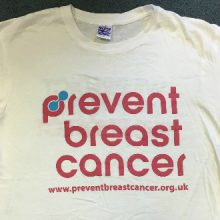 Prevent Breast Cancer Charity T-shirt Front