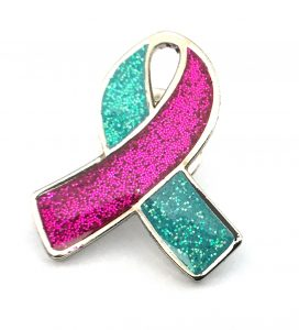 Prevent Breast Cancer Ribbon Badge