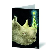 Christmas on the Rhino Christmas Cards Prevent Breast Cancer Charity UK