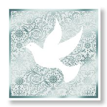 Silver Dove Christmas Cards Prevent Breast Cancer Charity UK