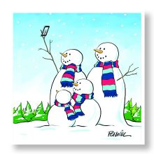 Snowman Selfie Christmas Cards Prevent Breast Cancer Charity UK
