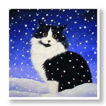 Sat in the Snow Christmas Card Prevent Breast Cancer Charity UK