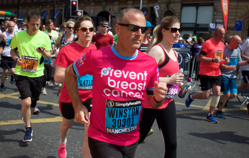 Greater Manchester Marathon Prevent Breast Cancer Charity UK