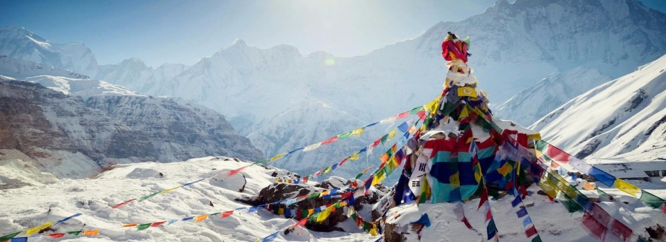 Everest base camp banner