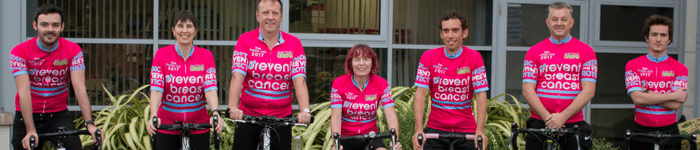 Prevent Breast Cancer Cycling events cycle for charity