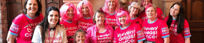 Prevent Breast Cancer Running events run for charity