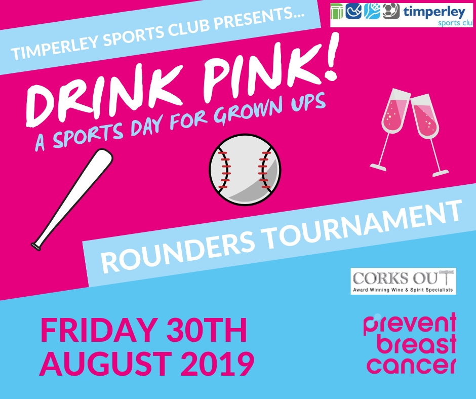 Drink Pink Rounders Tournament Poster 2019