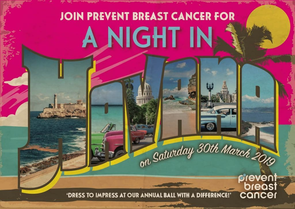 A Night in Havana Charity Dinner Dance Prevent Breast Cancer