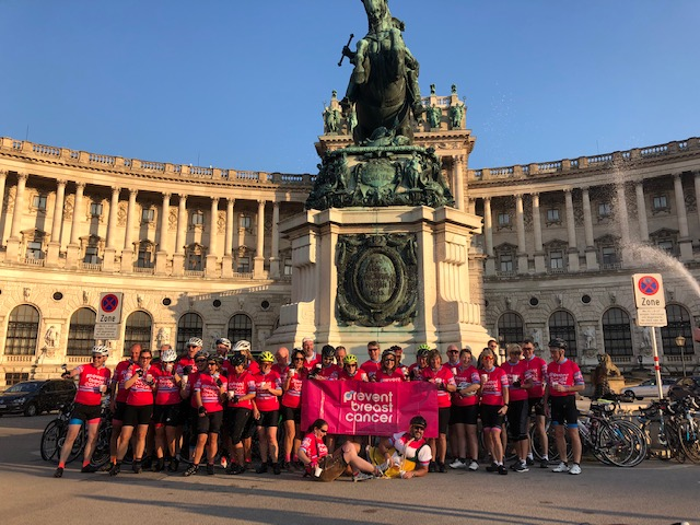 Salzburg to Vienna Cyclists Prevent Breast Cancer Charity UK
