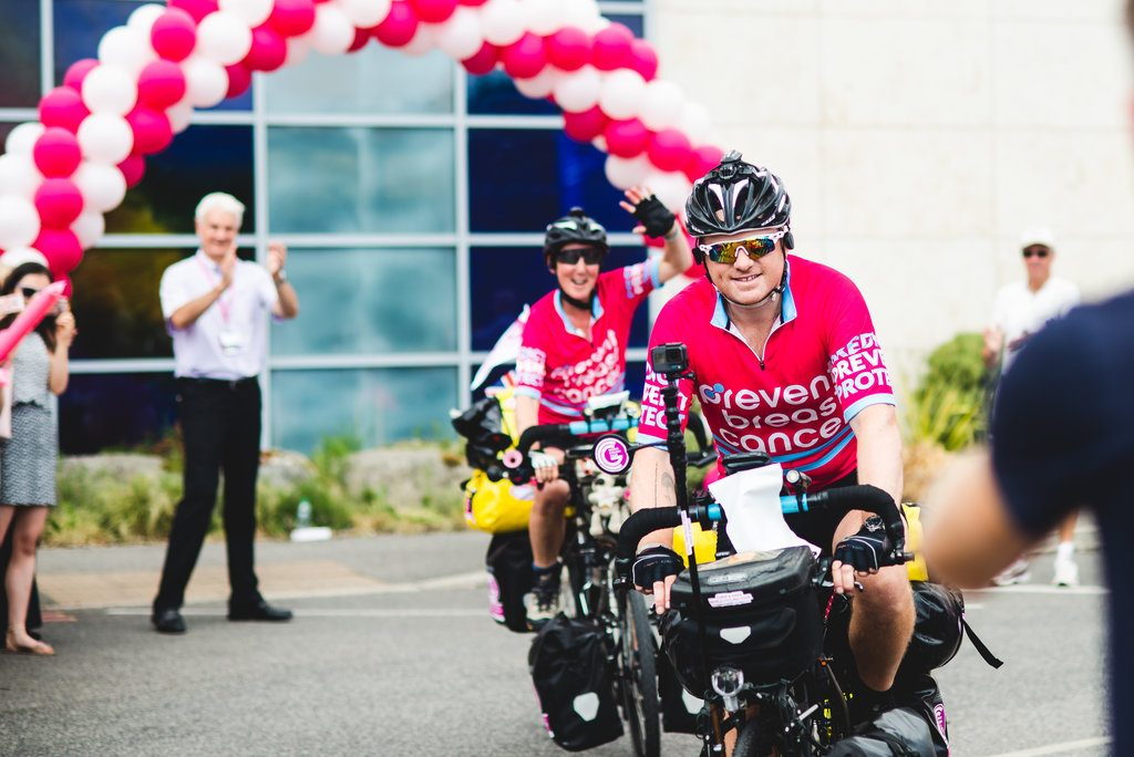 Chris and Gabs World Cycling Tour Prevent Breast Cancer Charity UK