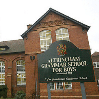 Altrincham Grammar School for Boys Paint Altrincham Pink Prevent Breast Cancer