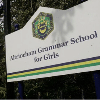 Altrincham Grammar School for Girls Paint Altrincham Pink Prevent Breast Cancer
