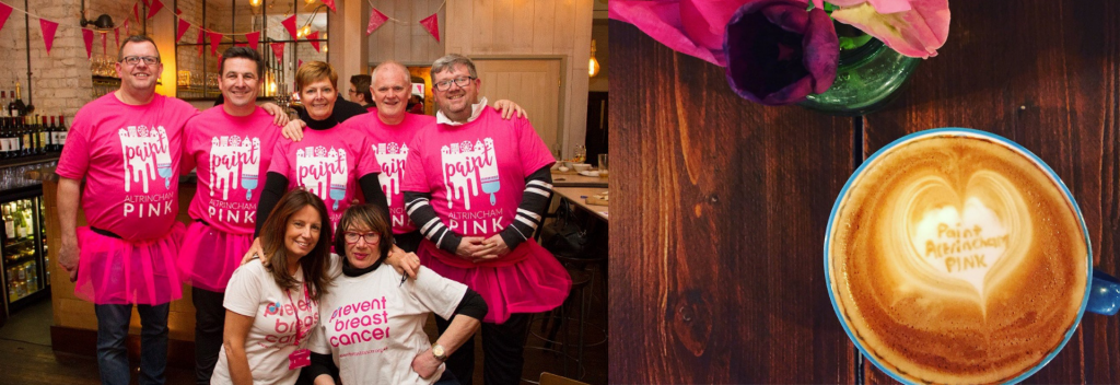 Paint Altrincham Pink Prevent Breast Cancer Charity UK