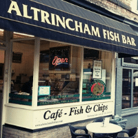 Altrincham Fish Bar Prevent Breast Cancer Paint Towns Pink