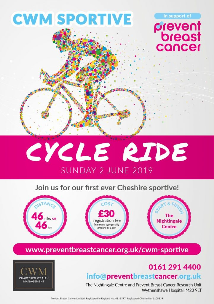 CWM Sportive Prevent Breast Cancer Charity UK