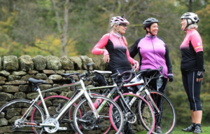 Female Cyclists FLAB Prevent Breast Cancer Charity UK