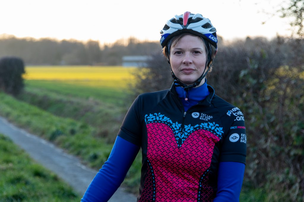 Sally Hurst What to wear for a cycling challenge Prevent Breast Cancer Charity UK