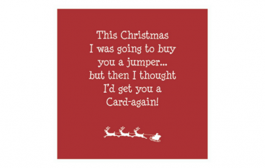 Jumper Prevent Breast Cancer Christmas Card