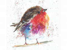 Fluffy Robin Prevent Breast Cancer Charity Christmas Cards