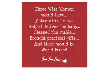 Three Wise Women Prevent Breast Cancer Christmas Card