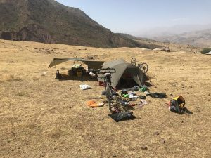 Camp when Chris was ill on the Pamir Highway