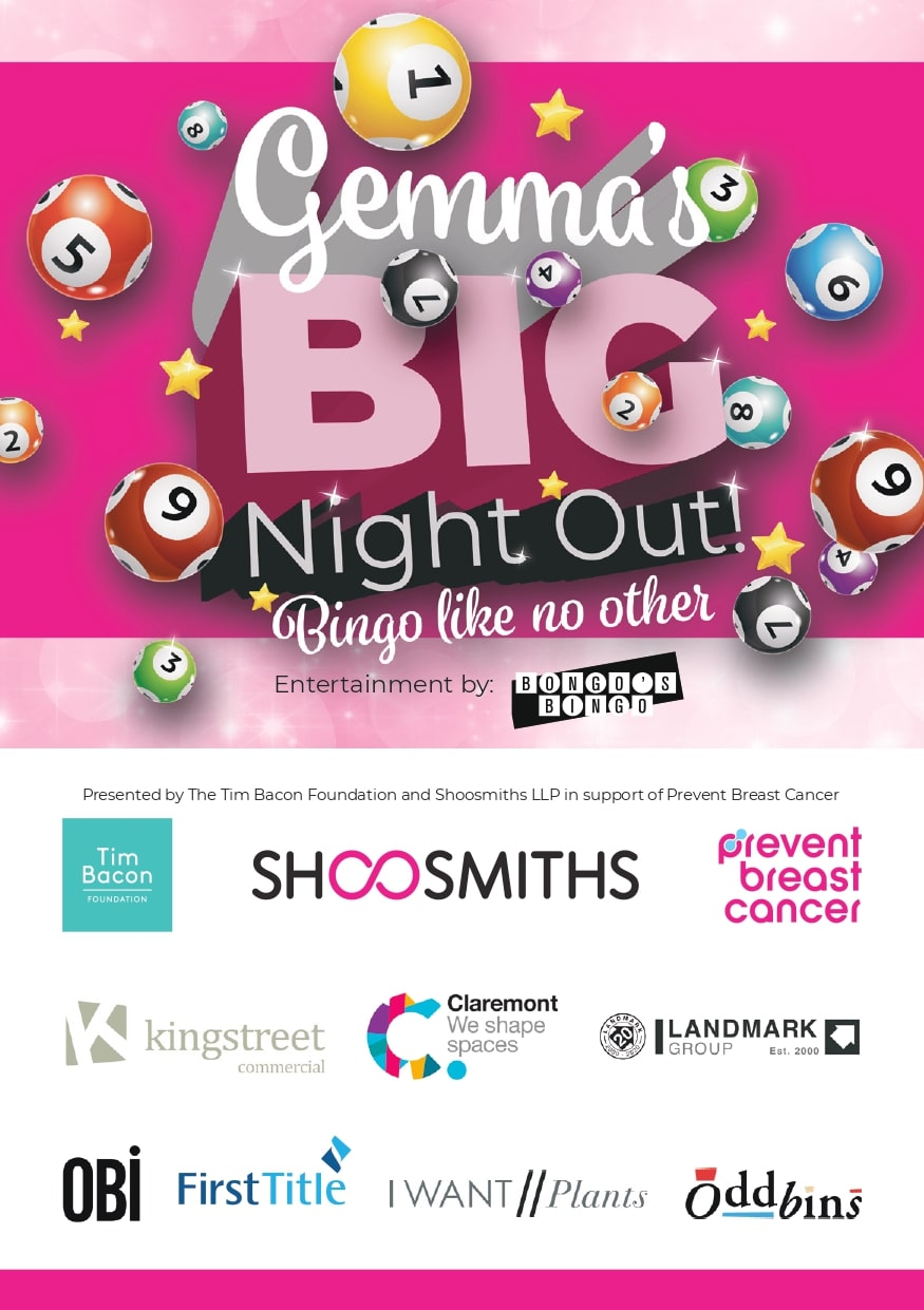 Gemma's Big Night Out Prevent Breast Cancer Charity Event UK