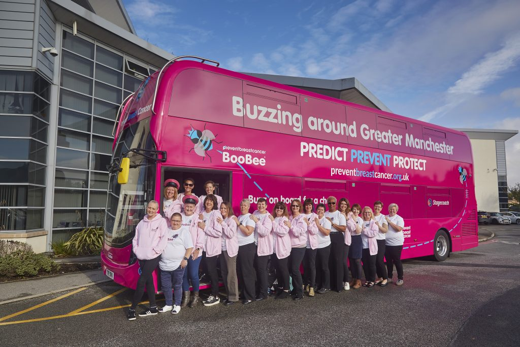 BooBee Bus is Back Prevent Breast Cancer Charity UK BCAM 2020